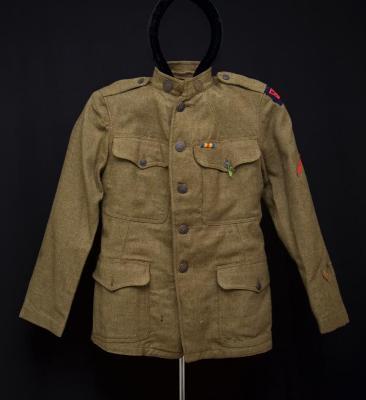 Army Jacket - mandarin style w/ insignia