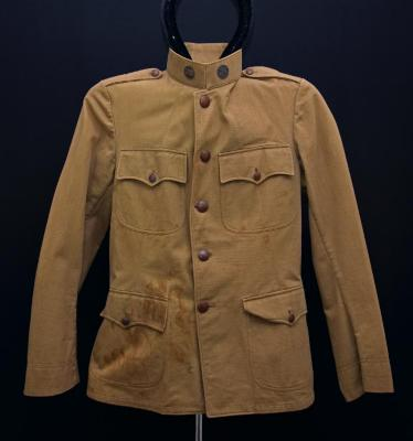 Army Uniform Jacket & Belt worn by Chas. Hill in WWI