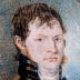 Watercolor on ivory portrait of unknown Naval officer