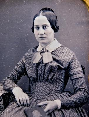 DAGUERREOTYPE of Lydia A. Coe, later Mrs. Charles Smith