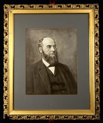 Portrait of Cornelius Scranton Bushnell - Painted (B&W)