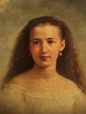 Portrait of Mary  Elizabeth Bushnell (Mrs. Samuel C. Bushnell, 3/8/1852 to 1930)