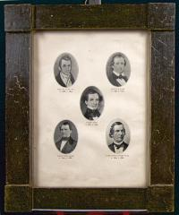 Pictures of 5 Hand Brothers in wooden frame
