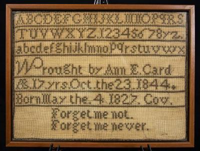 Needlework  Sampler by Ann E.  Card