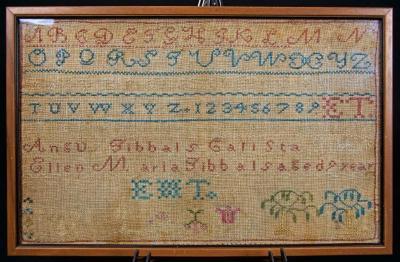 Needlework Sampler by E.M. Tibbals