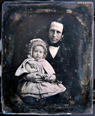 Daguerreotype of Ashbel Bradley & child