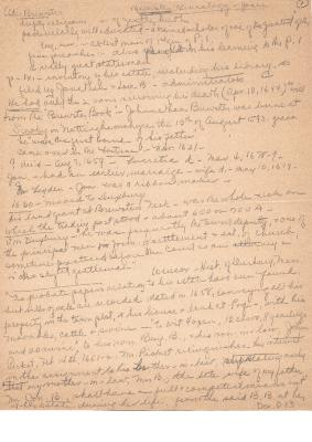Brewster Genealogy - Jones     Anecdotal notes written by Marion Hall