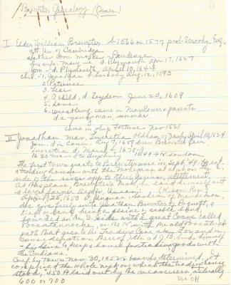 Brewster Genealogy (Jones)