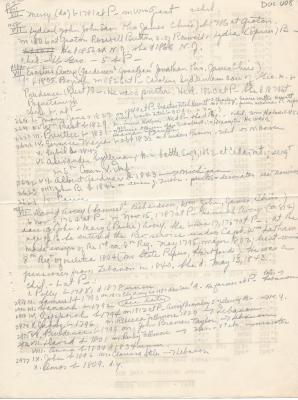Continuation of Doc. 007 - Genealogical notes for the Avery Family taken from Wheeler's History of Stonington