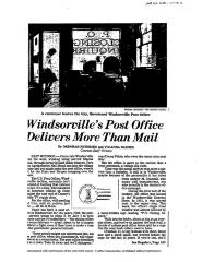 Hartford Courant article, 1983, closing of Windsorville Post Office (2 pages copy)