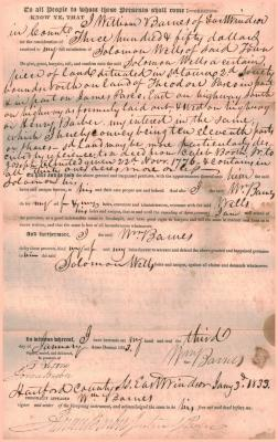 Administrator's deed Estate of Lorenzo Hayes to Solomon Wells.