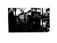 COPY: Photo, package store, Bridge St., Warehouse Point, 1938 flood.