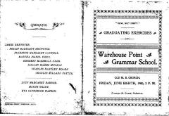 COPY Warehouse Point School graduation program, June 8, 1900