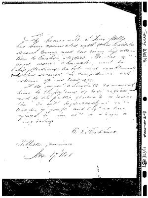 S. Terry Wells letter of recommendation