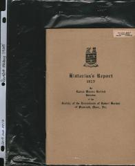 Historian's Report, 1925 by Lucius Warren Bartlett, Historian
