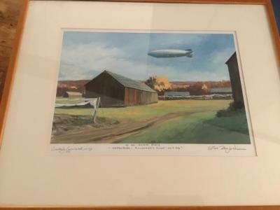 Painting by Steve Zazenrski of Hindenburg