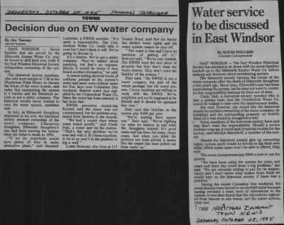 Ellsworth Estates Water Company.  Article Hartford Courant Town News dated October 28, 1995.and Journal Inquirer October 27 1995