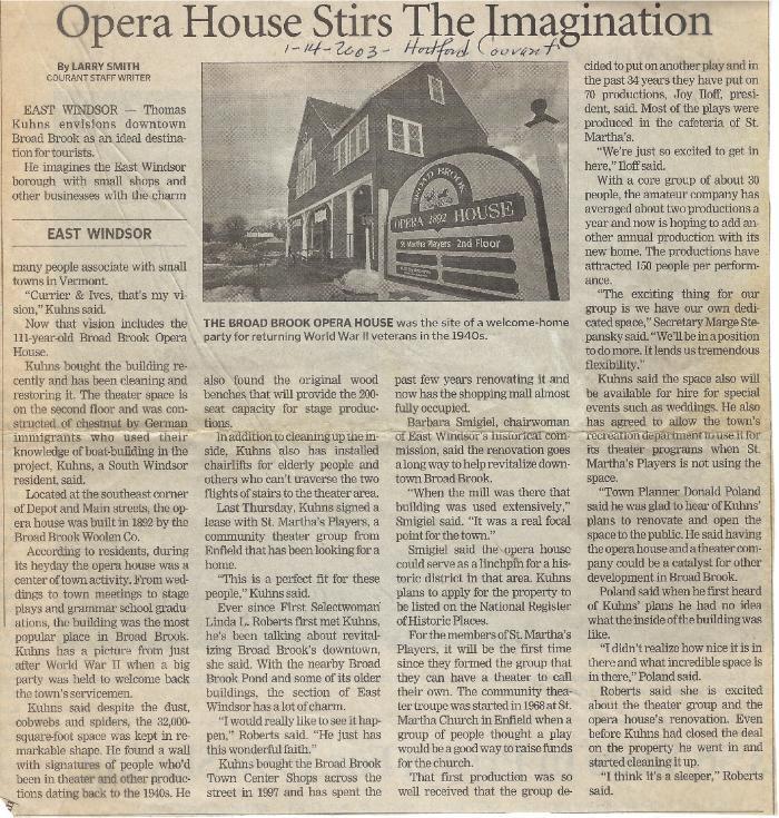 Broad Brook Opera House