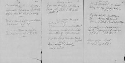 Handwritten Carbon Copy of Items in the Academy by Ellsworth Stoughton.