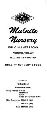 Brochure for Mulnite Nursery.
