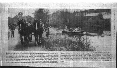 Windsor Locks Bicentennial and East Windsor Historical Society recreated canal boat ride. An articalefrom the Journal Inquirer dated Monday, May 3, 1976.
