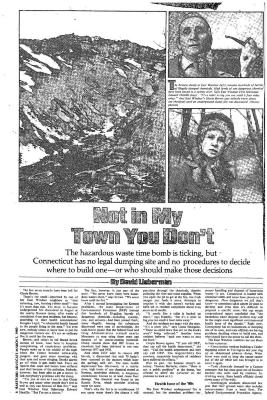 "Two newspaper articles: ""The Fire Next Time"" and ""Not in My Town You Don't""."