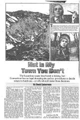 """Two newspaper articles: """"The Fire Next Time"""" and """"Not in My Town You Don't""""."""