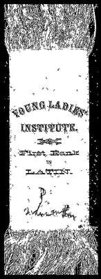Young Ladies Institute,  First Rank in Latin