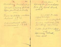 Academy Hall Inventory List by L. Ellsworth Stoughton (original and duplicate)