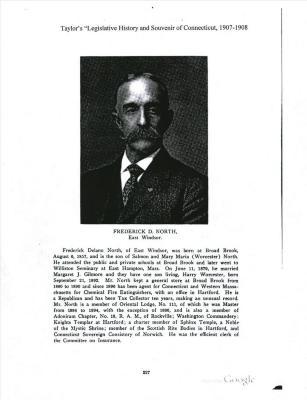 Frederick D. North of East Windsor