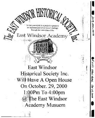 Flyer Open House Oct. 29, 2000