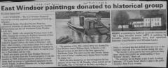 Ferry crossing  Windsor Locks to Warehouse Point  Oil Painting- newspaper article