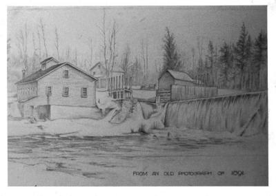 Windsorville Dam, Photo of sketch