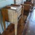 Wood butter churn