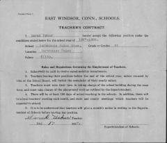 Teachers' Contract for Sarah Usher, May 17, 1927