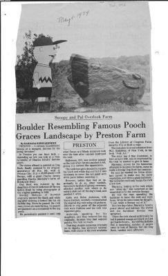 Boulder Resembling Famous Pooch Graces Landscape by Preston Farm
