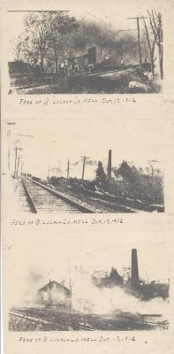 Fire of B. Lucas & Co. Mill Oct. 17, 1912