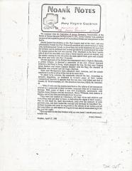 Photocopy of Noank Notes - Avery Downer narrative cont.