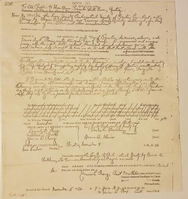 Photocopy of quit claim deed for Long  Town house and land 1936