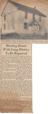 Meeting House with Long History to be Repaired
