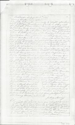 Photocopy of Jabez Avery letter, Ticonderoga 1775