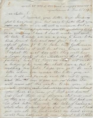 1846 Letter to Mary Carr from her sister