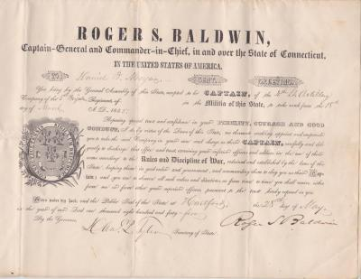 1845-05-28 appointment of Daniel B. Morgan to captain