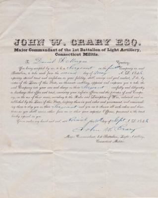 1842-09-30 appointment of Daniel B. Morgan to sergeant