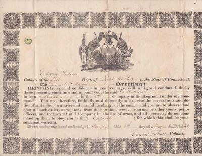 1840-05-04 appointment of Daniel B. Morgan to corporal