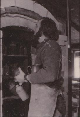 making Preston Bicentennial pottery -- frame 7