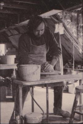 making Preston Bicentennial pottery -- frame 10