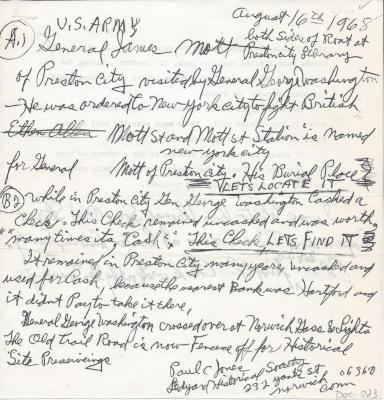 Notes on General James Mott