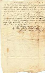 Regimental Orders for 34th Connecticut Militia