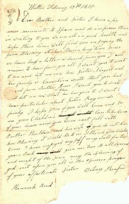 Letter: Betsey Hanford to Elijah & Hannah Reed